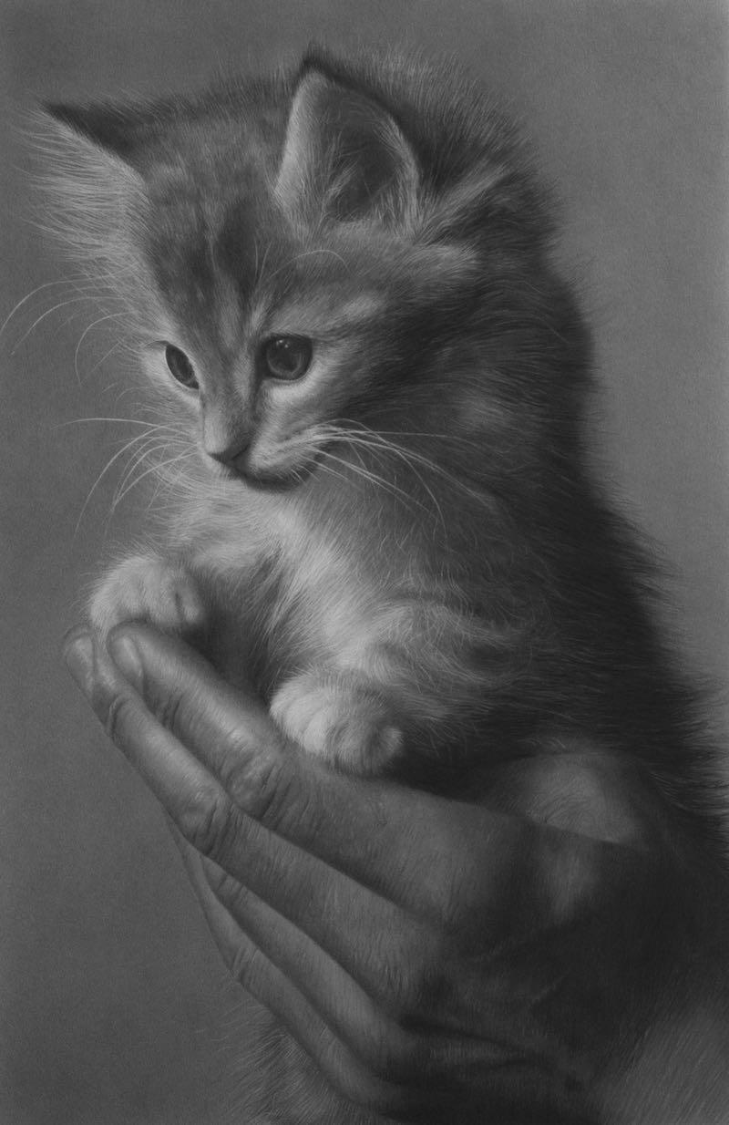 Helping Hand, pencil artwork, 2019